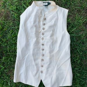 J. McLaughlin Vintage Buttoned Vest Jacket